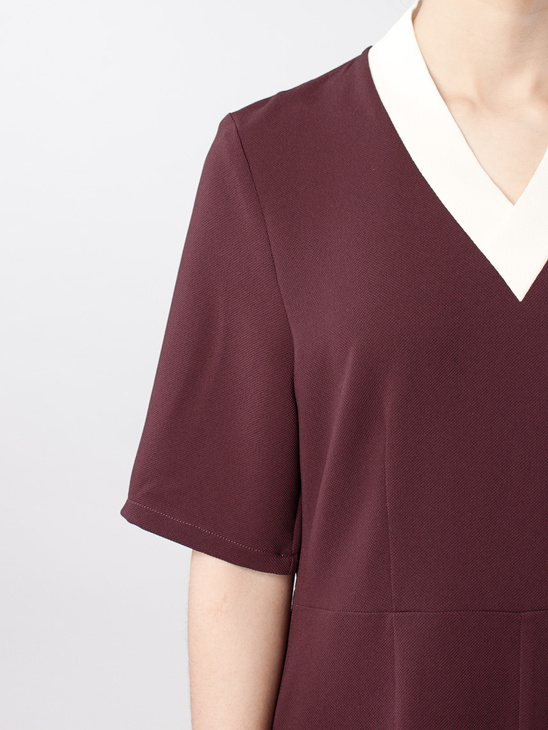APLACE Quin Dress - Wood Wood