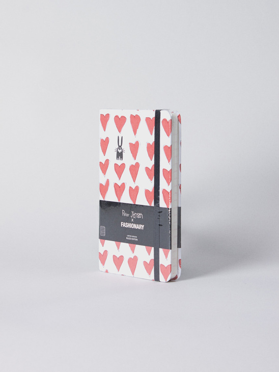 P. Jensen Red Heart Notebook