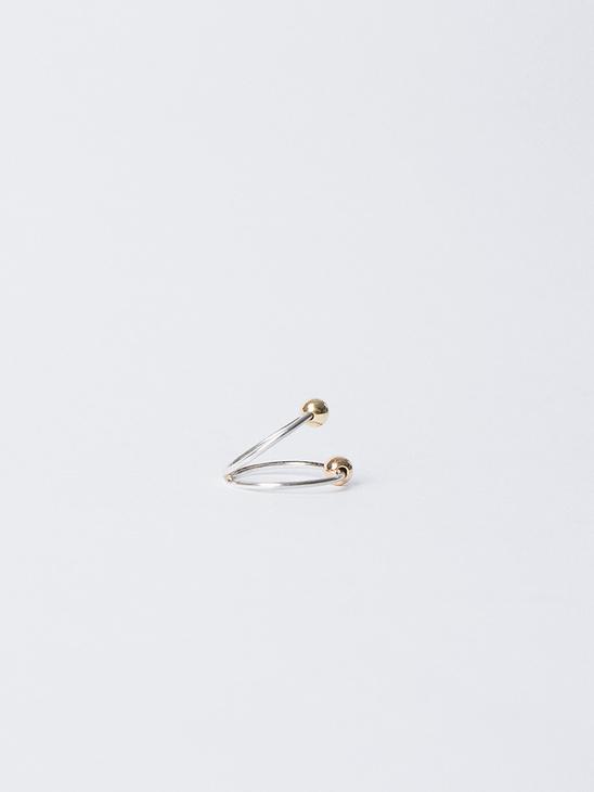 Split Bead Ring Silver 14