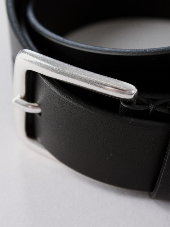 M. Leather Belt Black
