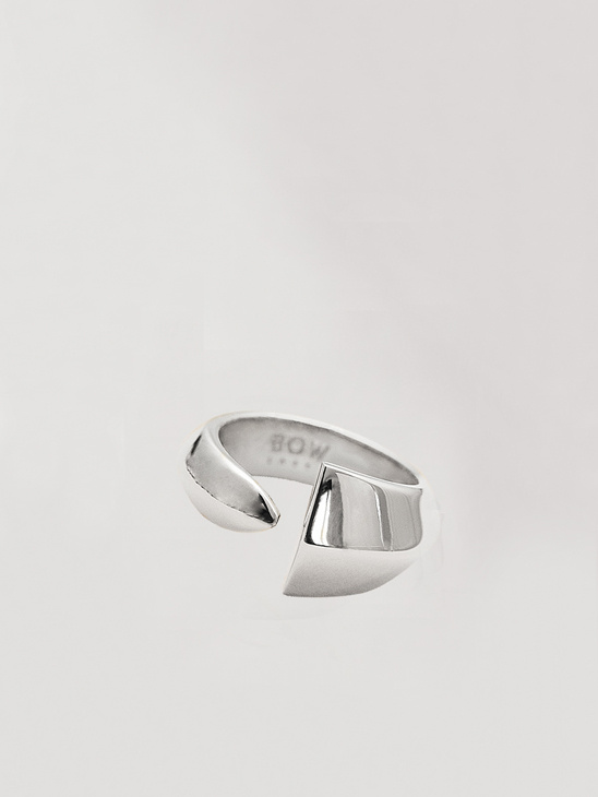Épée Pinky Ring - Rhodium Plated Silver