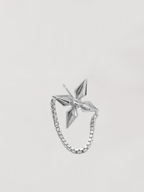 Apache Stud - Rhodium Plated Silver
