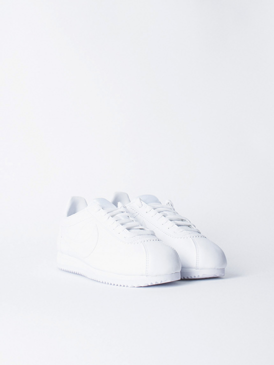 Cortez Leather White/White