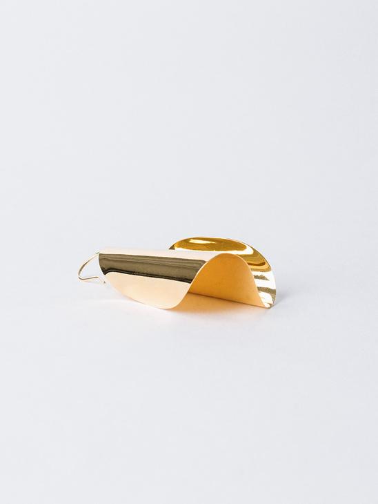 Paper Roll Earring Gold P Slvr