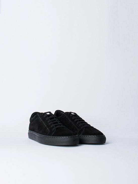 W Black Suede Sneaker