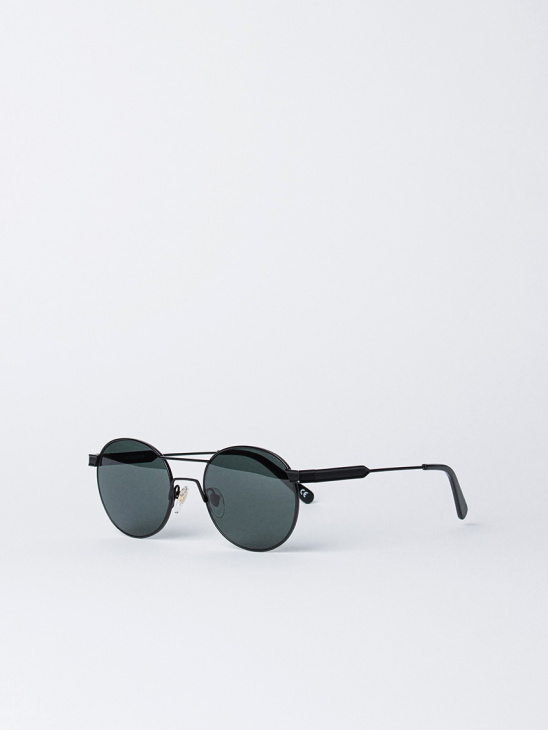 Green Matt Black Sunglasses