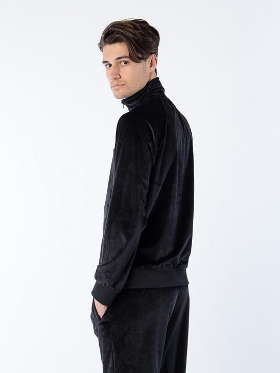 APLACE Velour Jacket + Sweatpants - New Black