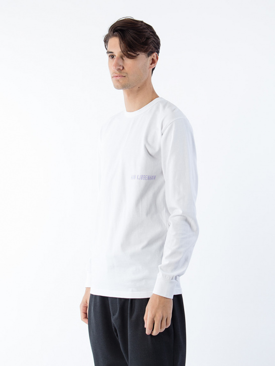 Logo Sleeve Tee White