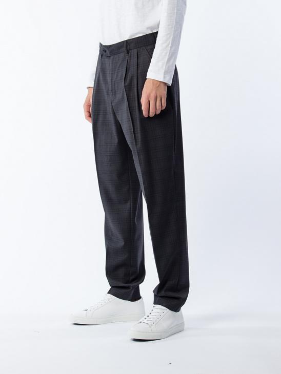 Saevio Trousers Dark Charcoal