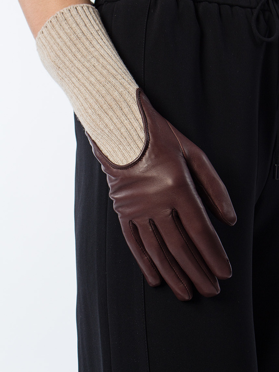 Wool Rib Glove Bordeaux