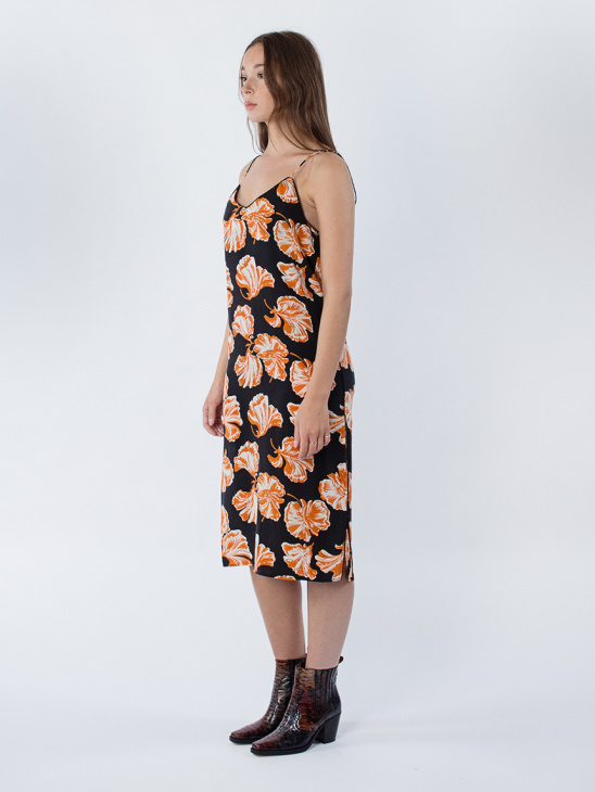 Geroux Silk Strap Dress
