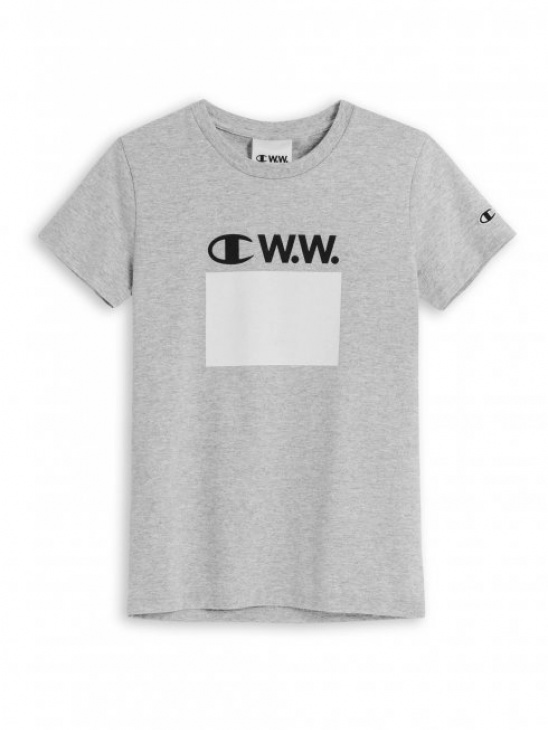 APLACE Japan Jersey Tee Grey Melange - Champion by Wood Wood