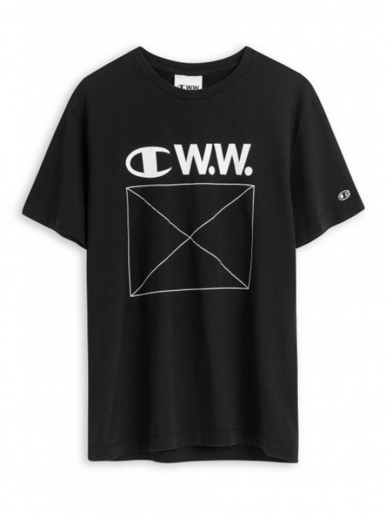 APLACE Japan Jersey Tee Black - Champion by Wood Wood