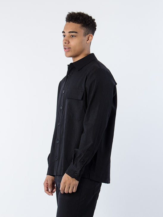 Sim Shirt Black Stripe