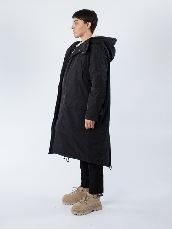 APLACE Crew Parka Dk Grey - Hope