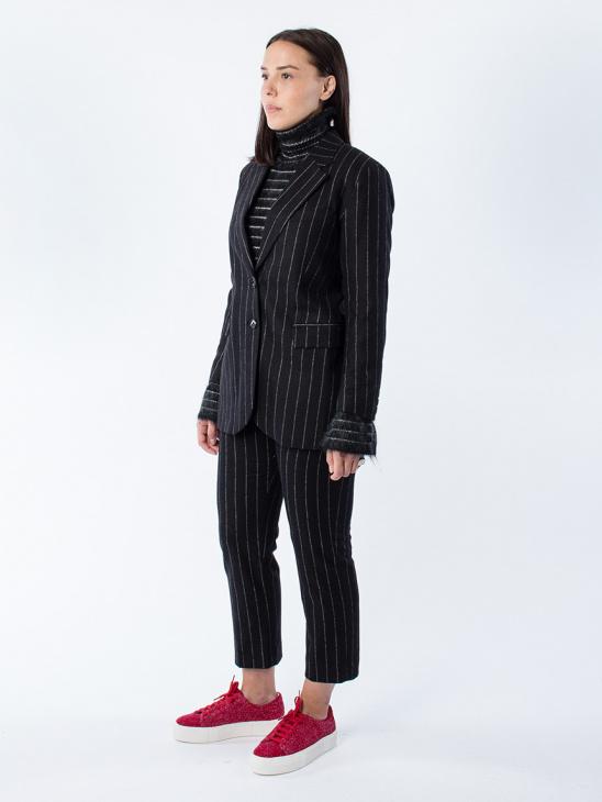 Strong Blazer Black Stripe