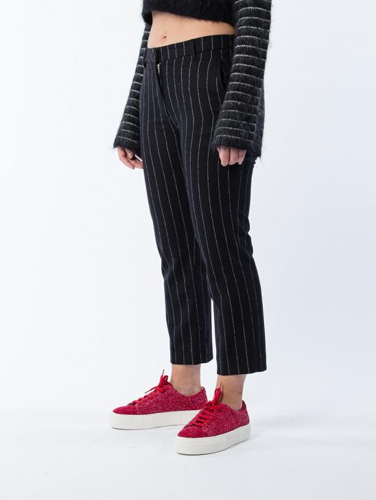 Lobby Trouser Black Stripe
