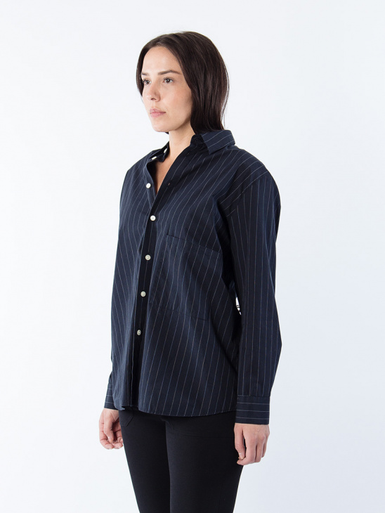 Elma Shirt Black Stripe