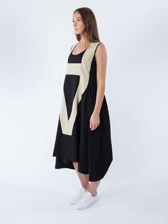 Vibs Dress Black Sand