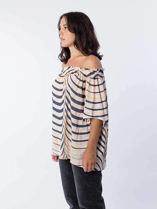 Flirt Blouse Pale Peach Palm