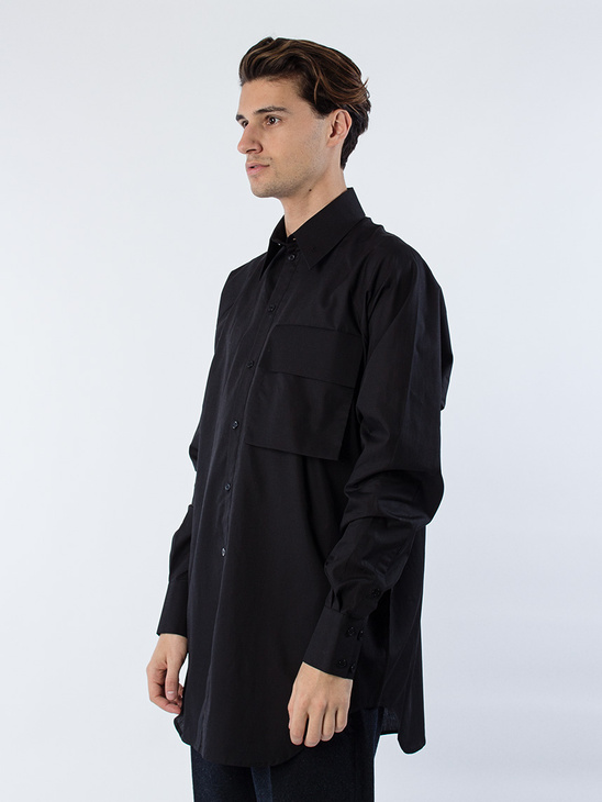 Pocket Raglan Shirt Black