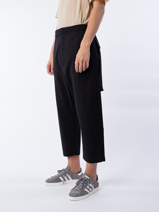 Drop Crop Pants Black