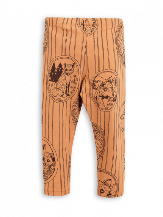 Fox Family Leggings Brown