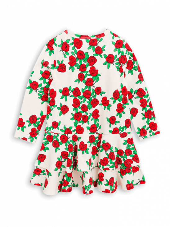 Rose Ls Frill Dress