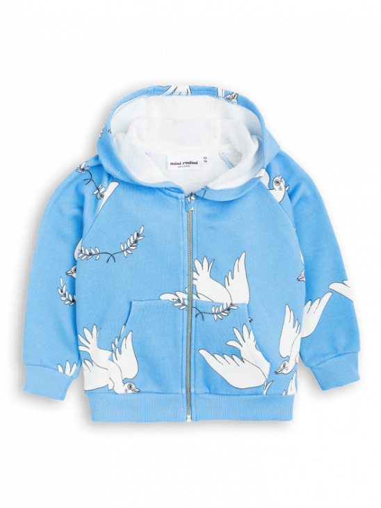 APLACE Peace Zip Hood - Mini Rodini
