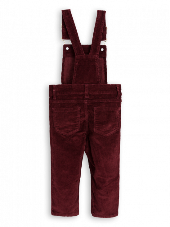 Cord Dungarees Burgundy