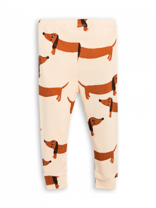 Dog Leggings Beige