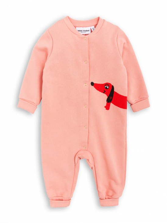 APLACE Dog Sp Onesie Pink - Mini Rodini