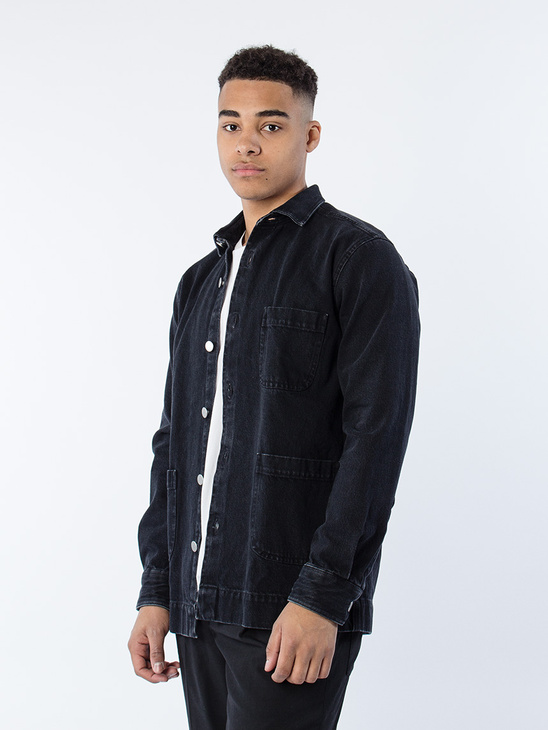 Overshirt Denim One Washed Blk