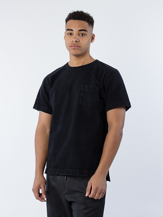 T-Shirt Denim One Washed Black