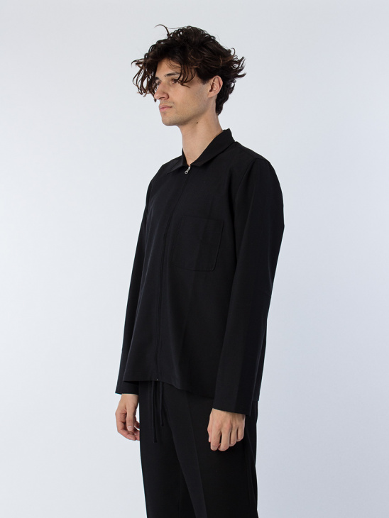 Second Layer Wool Shirt Black