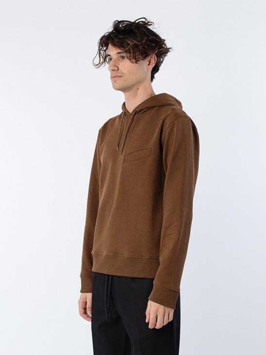 Pocket Hoodie Dark Brown