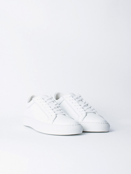 W White Leather Sneaker