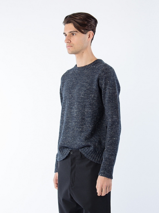 Compose Sweater Dk Blue Mel
