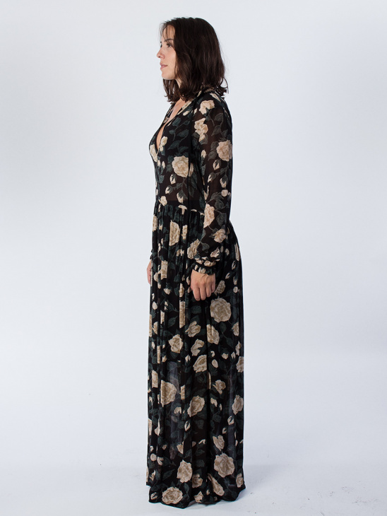 Carlton Georgette Maxi Dress