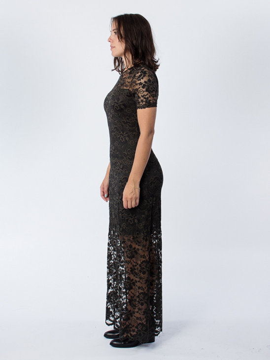 Flynn Lace Rosin Dress