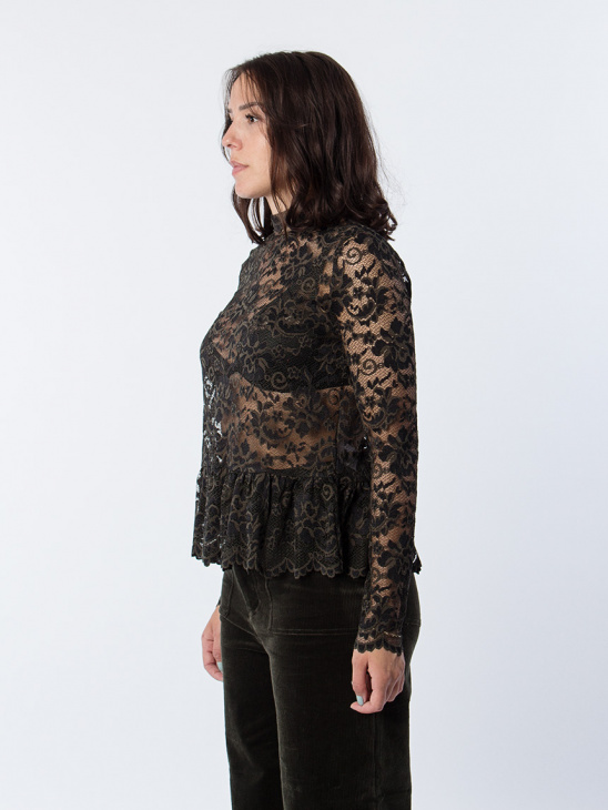 Flynn Lace Rosin Blouse