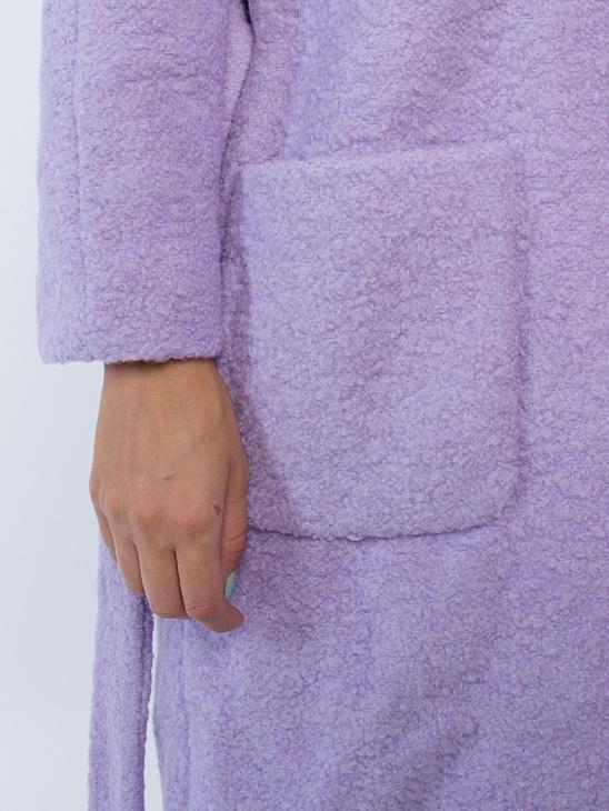 APLACE Fenn Pastel Lilac Coat - Ganni