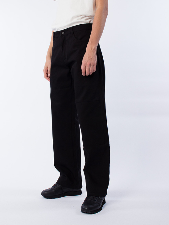 Trousers W Knee Patches Black