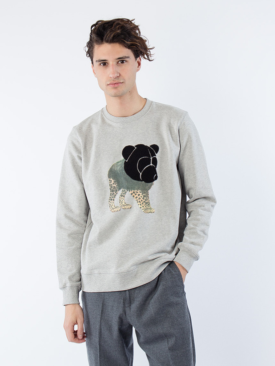 APLACE Sweatshirt W Teddy and Print - Tonsure