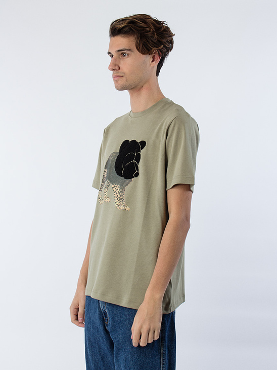 Tee W Tonsure Teddy  And Print