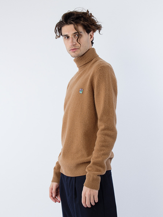 Regular Fit Turtleneck Camel
