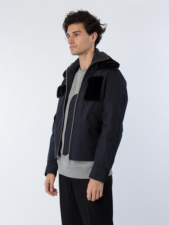 Bomber W Detachable Fur Collar