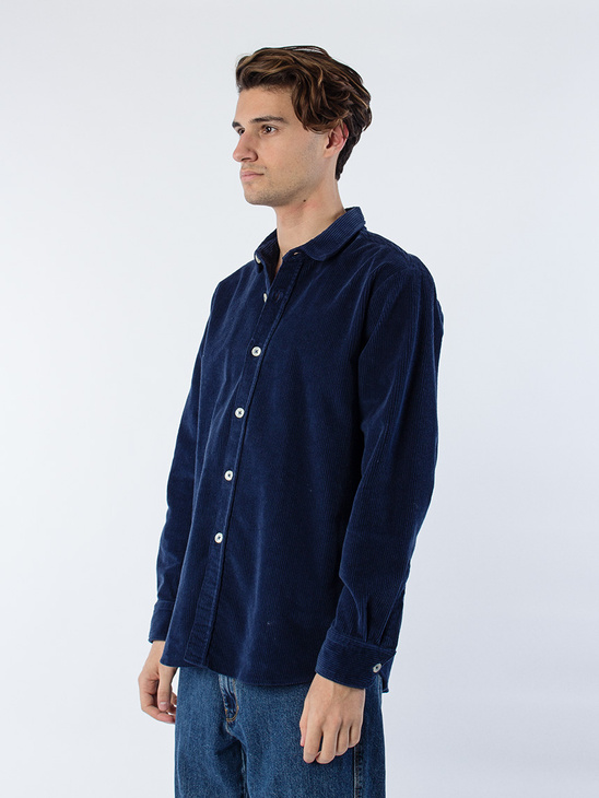Blake Cord Shirt Boxy Fit Navy