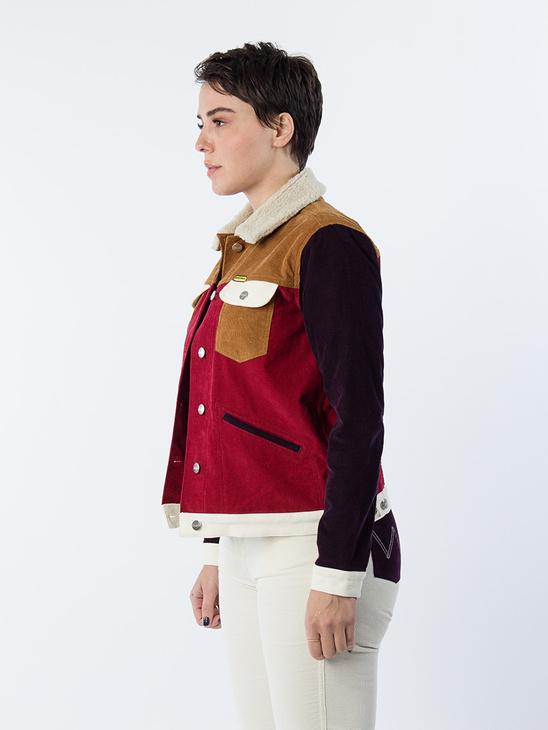 Western Jacket Denim Burgundy