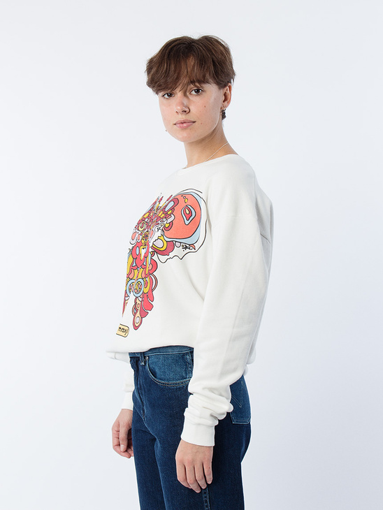 Butterfly Sweatshirt Off White